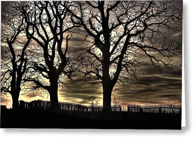 Third Day Of Battle Greeting Cards - Night Approaches-1b - Gettysburg Battlefield Greeting Card by Michael Mazaika