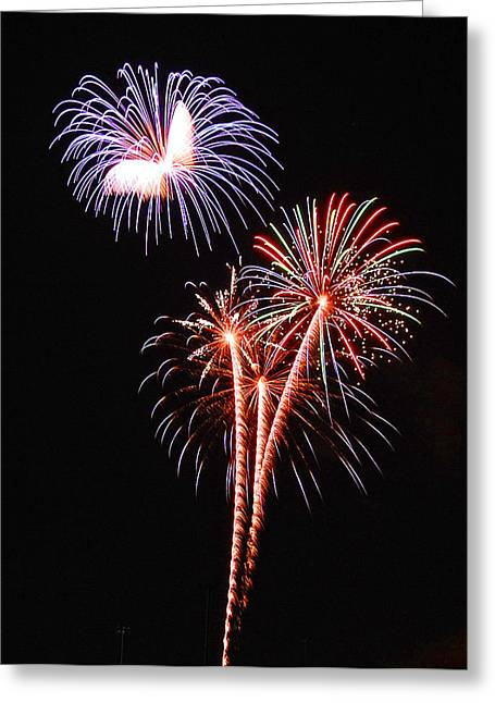 4th July Mixed Media Greeting Cards - Night art Greeting Card by Davids Digits