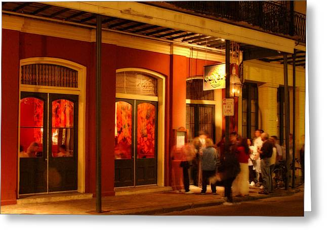 French Quarter Doors Greeting Cards - Night at Muriels Jackson Square Greeting Card by Greg Mimbs