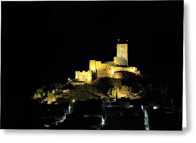 Prospects Greeting Cards - Night at the Castle Greeting Card by Pedro Fernandez