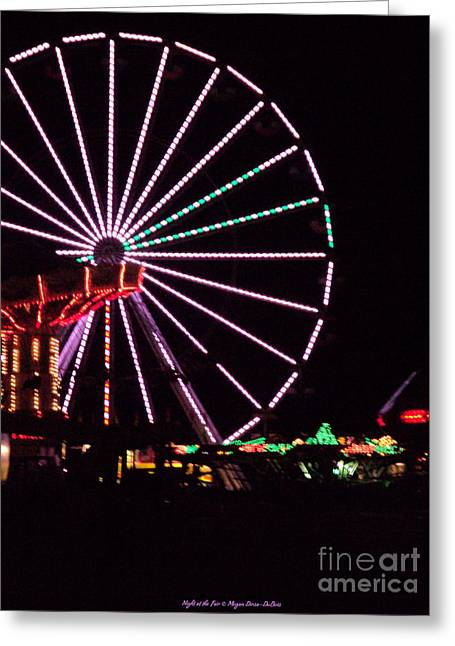 St. Lucie County Greeting Cards - Night at the Fair Greeting Card by Megan Dirsa-DuBois