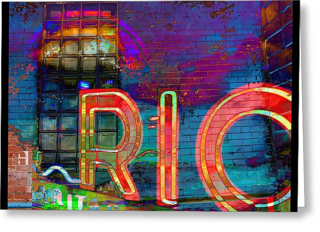 Fort Collins Digital Greeting Cards - Night at the Rio Greeting Card by Tammy Beard