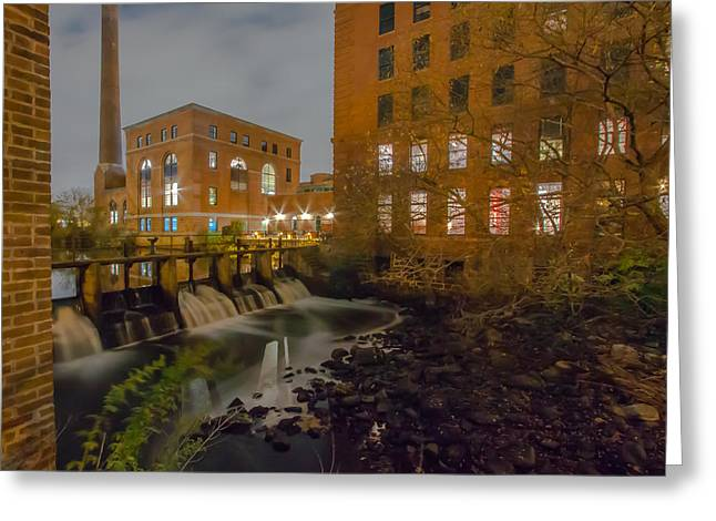 Boston Ma Greeting Cards - Night at the River Greeting Card by Brian MacLean
