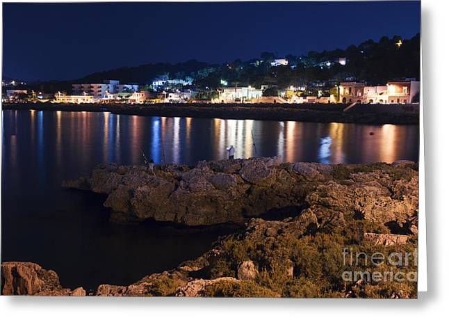 Luci Greeting Cards - Night at the sea of Salento Greeting Card by Rossana Coviello