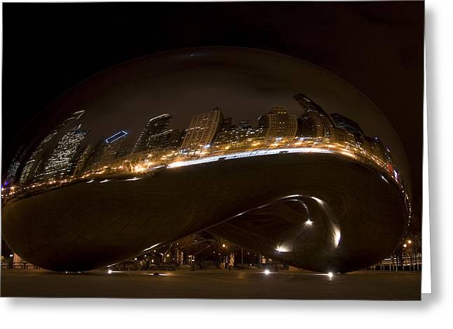 Night Bean Greeting Card by Margaret Guest