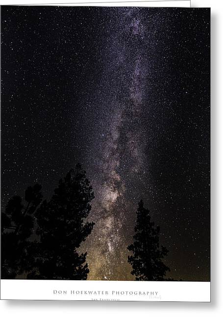 Ebbetts Pass Greeting Cards - Night Brilliance Greeting Card by PhotoWorks By Don Hoekwater