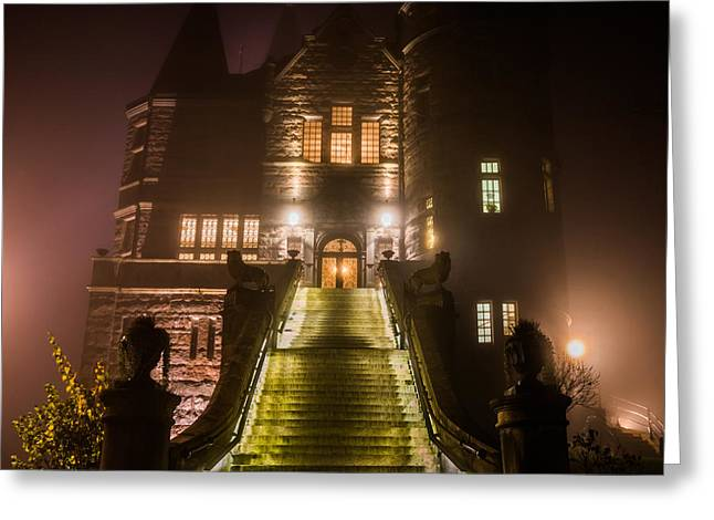 Frightening Castle Greeting Cards - Night Castle Greeting Card by Andrei Hrabun
