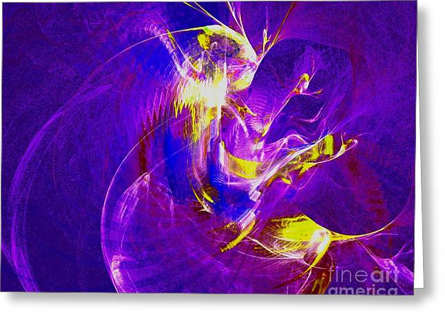 Expressive Native American Indian Greeting Cards - Night Dancer 1 Greeting Card by Jeanne Liander