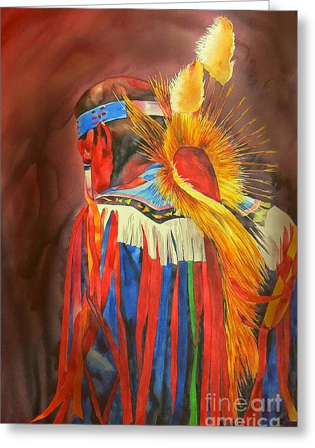 Ritual Greeting Cards - Night Dancer Greeting Card by Robert Hooper