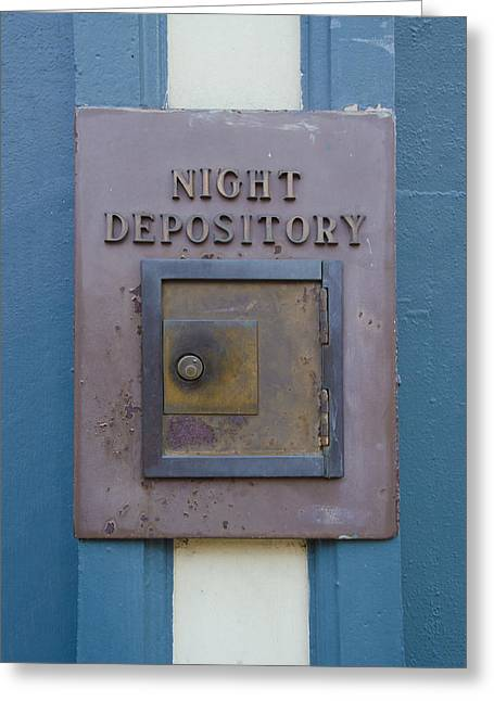 Depository Greeting Cards - Night Depository Greeting Card by Bill Cannon