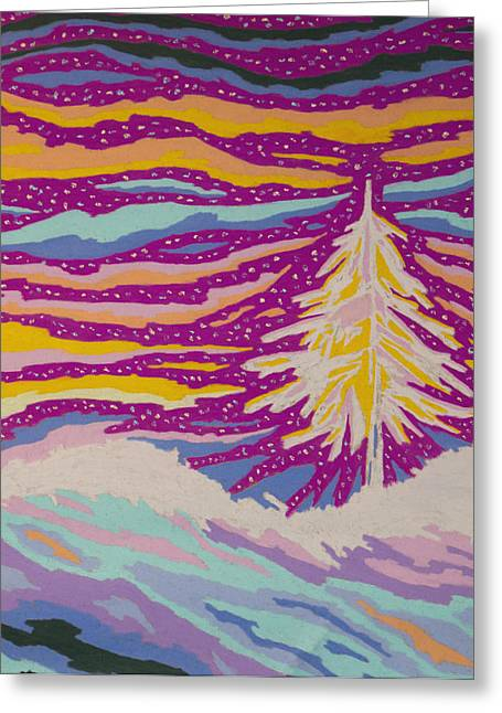 Divine Pastels Greeting Cards - Night Divine Greeting Card by Mike Manzi