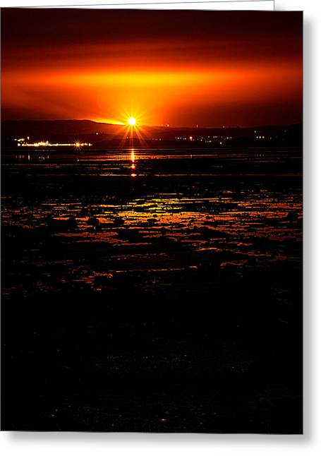 Runnycustard Greeting Cards - Night Flare. Greeting Card by Lenny Carter