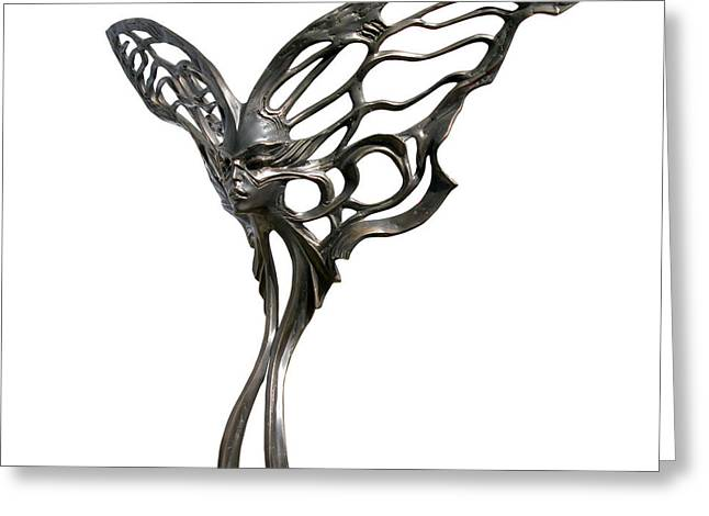 Butterflies Sculptures Greeting Cards - Night Flight Greeting Card by Igor Grechanyk