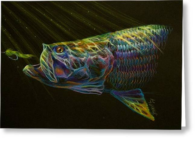 Saltwater Greeting Cards - Night fly Greeting Card by Yusniel Santos