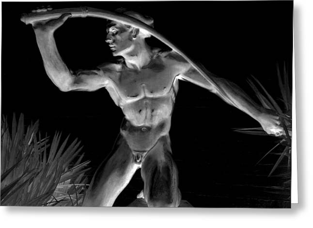 Nudes Sculptures Greeting Cards - Night Harvest Greeting Card by Randall Weidner
