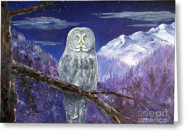 Lee Piper Art Greeting Cards - Night Hunter Greeting Card by Lee Piper