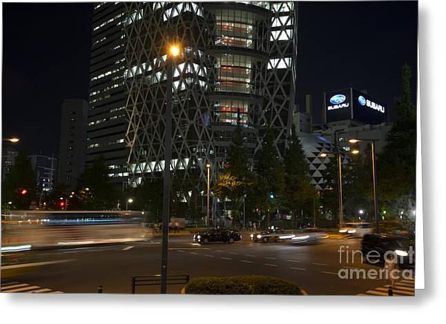 Night Scenes Greeting Cards - Night in Shinjuku Greeting Card by David Bearden