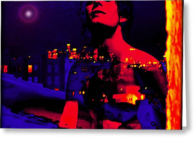 Night Angel Greeting Cards - Night in the city looks pretty looks pretty to me Greeting Card by John Waiblinger