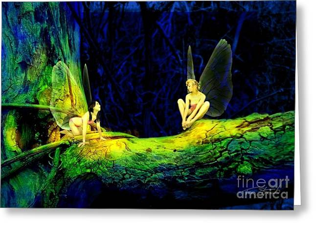 Faery Greeting Cards - Night in the Cove Greeting Card by Tom Straub