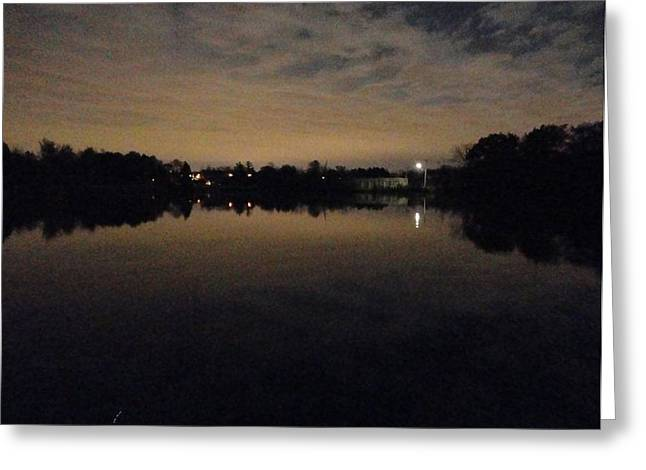 Guy Ricketts Photography Greeting Cards - Night Lake Greeting Card by Guy Ricketts