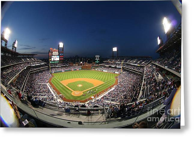 Night Life At Citizens Bank Park Greeting Card by Bryan Maransky