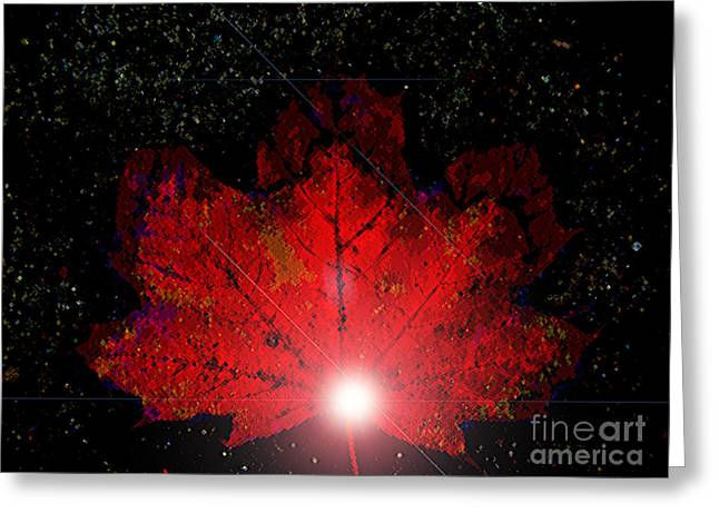 Gleem Greeting Cards - Night Light Greeting Card by Ann Johndro-Collins