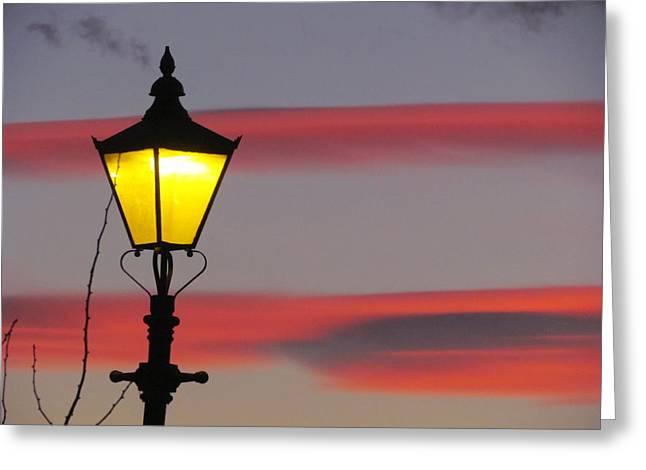 Joyce Woodhouse Greeting Cards - Night Light Sky Greeting Card by Joyce Woodhouse