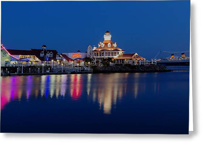 Editorial Greeting Cards - Night Lights Greeting Card by Heidi Smith