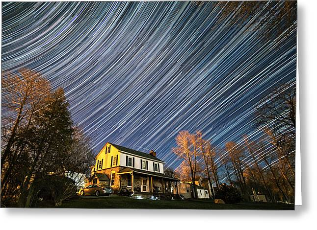 Time Stack Greeting Cards - Night Lights Greeting Card by Matt Molloy