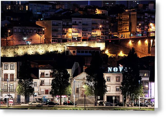 Night Shot Greeting Cards - Night Lights on Av Diogo Pinto Greeting Card by John Rizzuto