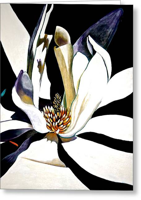 Water Lilly Pastels Greeting Cards - Night Lily Greeting Card by Susan Robinson