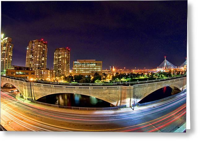 Night Moves 2-Boston Greeting Card by Joann Vitali