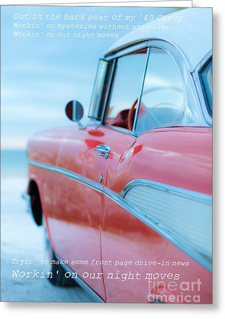 Old Auto Greeting Cards - Night Moves Greeting Card by Edward Fielding