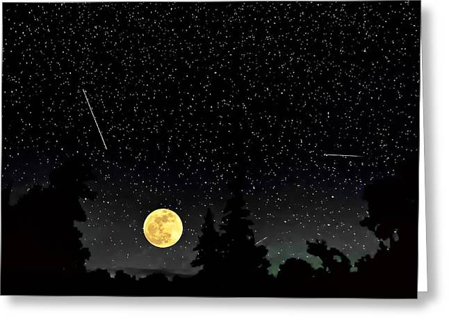 Outer Space Greeting Cards - Night Moves Greeting Card by Steve Harrington