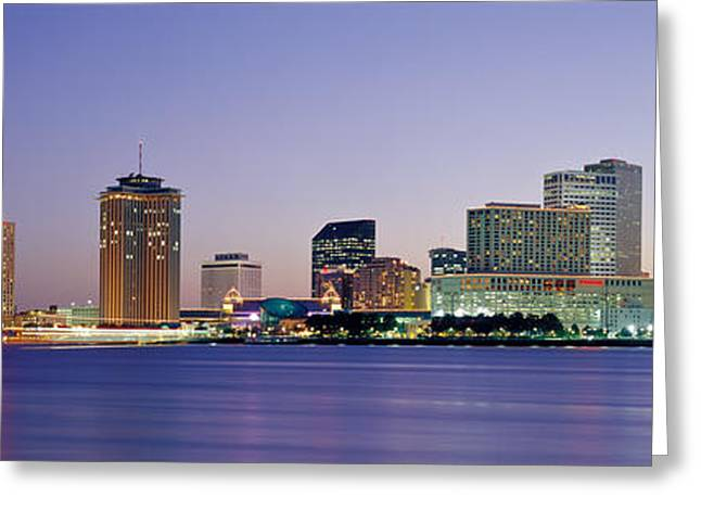 Louisiana Greeting Cards - Night New Orleans La Greeting Card by Panoramic Images