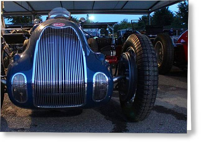 Number 18 Greeting Cards - Night Night Bugatti Greeting Card by Robert Phelan
