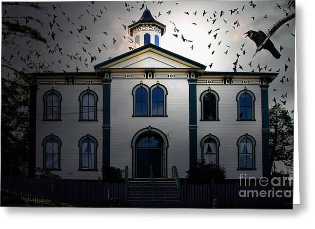 Night of The Birds . 7D12487 Greeting Card by Wingsdomain Art and Photography