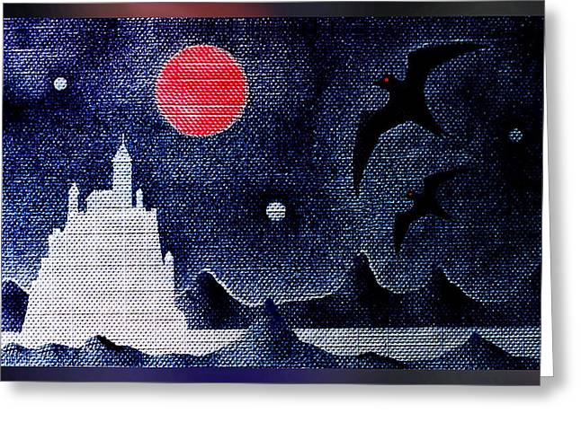 Camelot Greeting Cards - Night Of The Blood Moon Greeting Card by Hartmut Jager