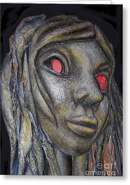 Papier Mache Greeting Cards - Night Of The Living Dead Greeting Card by Al Bourassa
