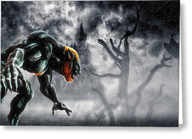 Night Of The Lycan Greeting Card by Bob Orsillo
