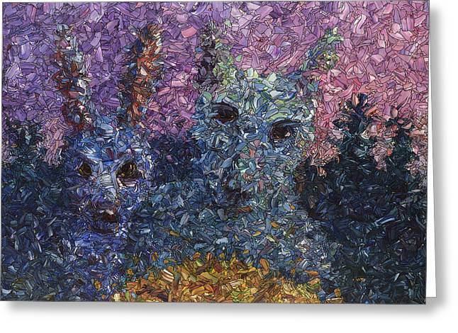 James Paintings Greeting Cards - Night Offering Greeting Card by James W Johnson