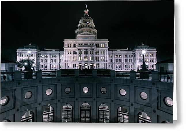 Surreal Landscape Greeting Cards - Night on the Capital Greeting Card by William Huchton