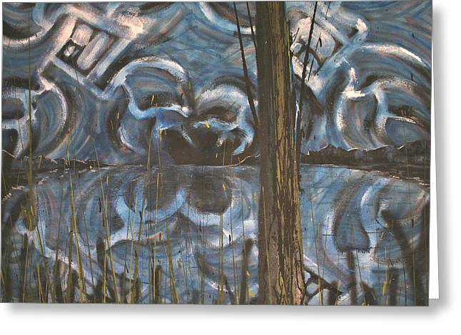 Divine Proportions Greeting Cards - Night on the Lake Greeting Card by Ryan Houser