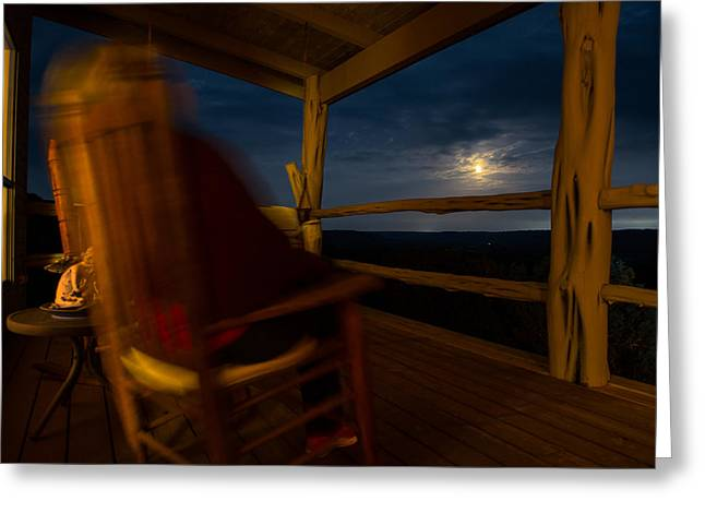 Night On The Porch Greeting Card by Darryl Dalton