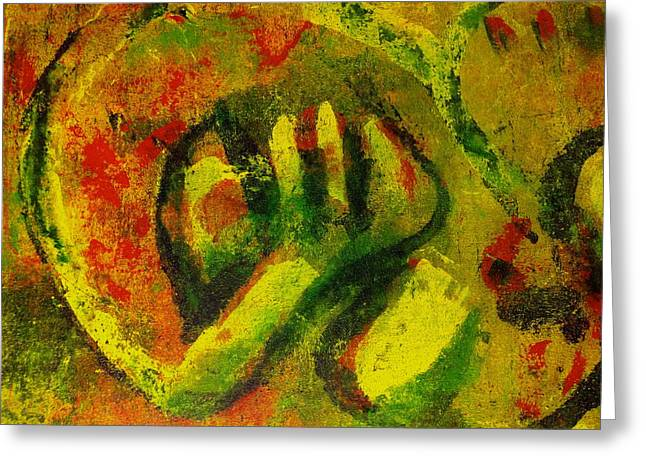 Disfigure Paintings Greeting Cards - Night Out  Greeting Card by Abram Freitas