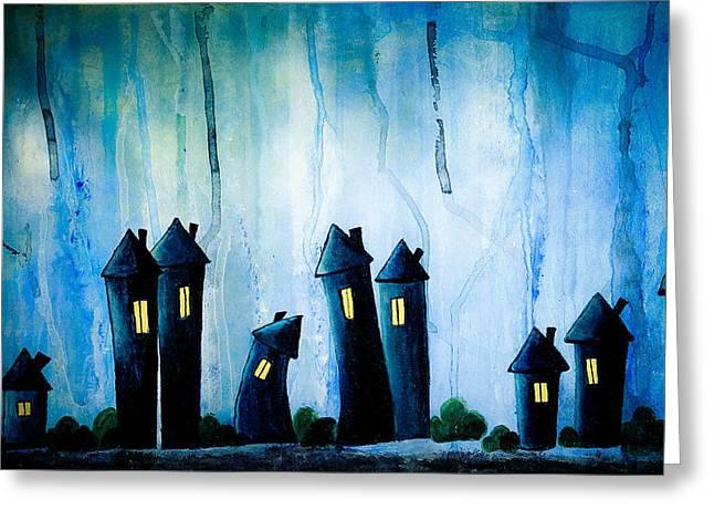 Night Owls Greeting Card by Nirdesha Munasinghe