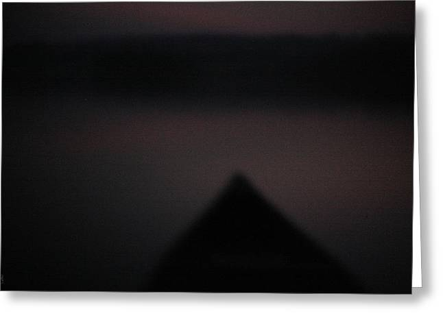 Canoe Photographs Greeting Cards - Night paddle Greeting Card by John Meader