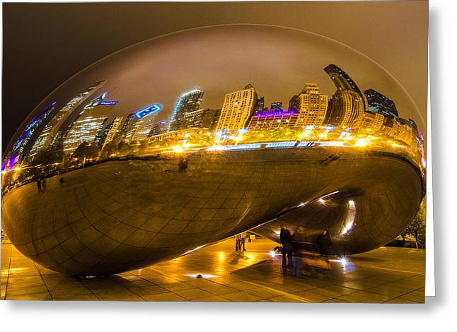 The Bean Greeting Cards - Night Reflections Greeting Card by Jonah  Anderson
