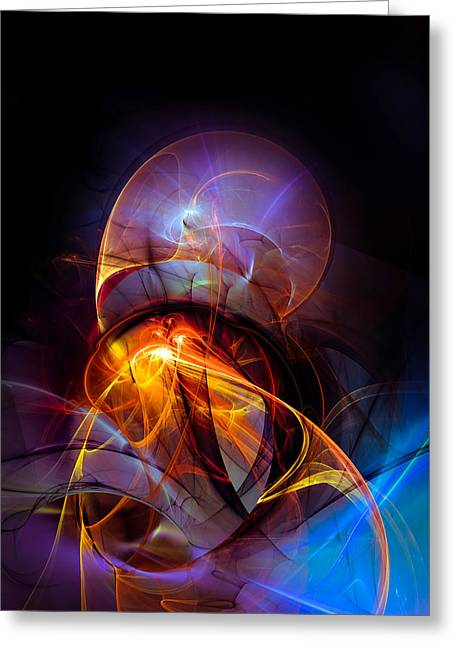 Abstract Shapes Greeting Cards - Night ride Greeting Card by GP Images