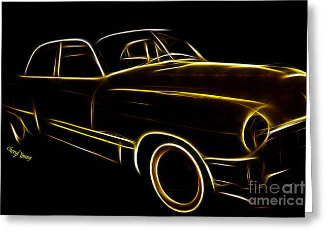 Night Rider Greeting Card by Cheryl Young